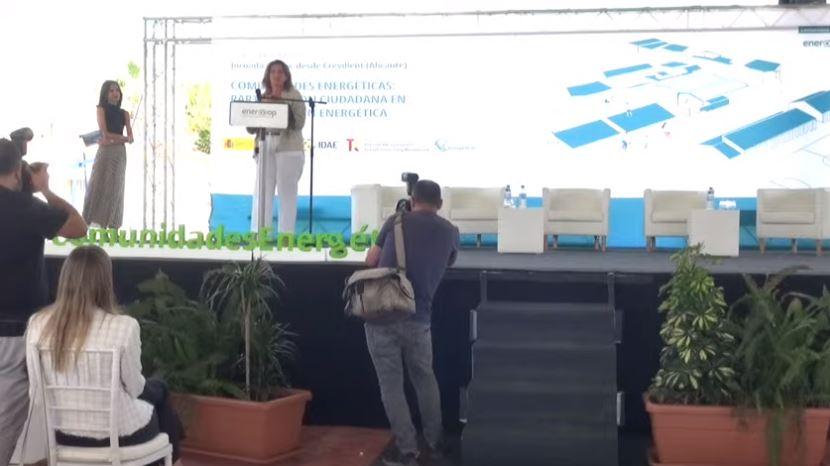 Teresa Ribera en la jornada 'Comunidades energéticas: participación ciudadana en la transición energética'